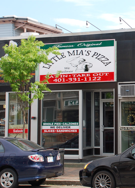 Little Mia's Pizza in Providence, Rhode Island
