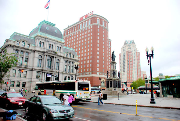 Downtown Providence, Rhode Island (facing the Biltmore Hotel)